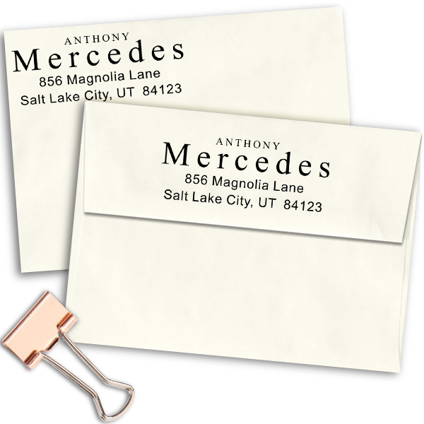 Times Name Return Address Stamp Imprint Example