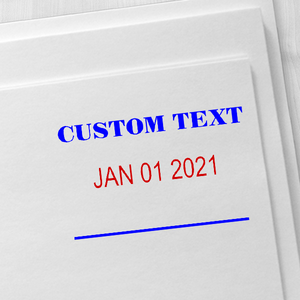 Custom 1 Line Dater Mobile Check Deposit Rubber Stamp Imprint Example