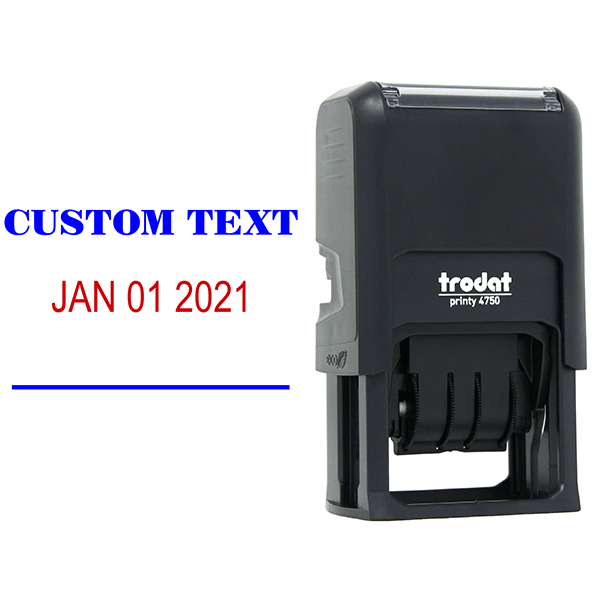 Custom 1 Line Dater Mobile Check Deposit Rubber Stamp Body and Design