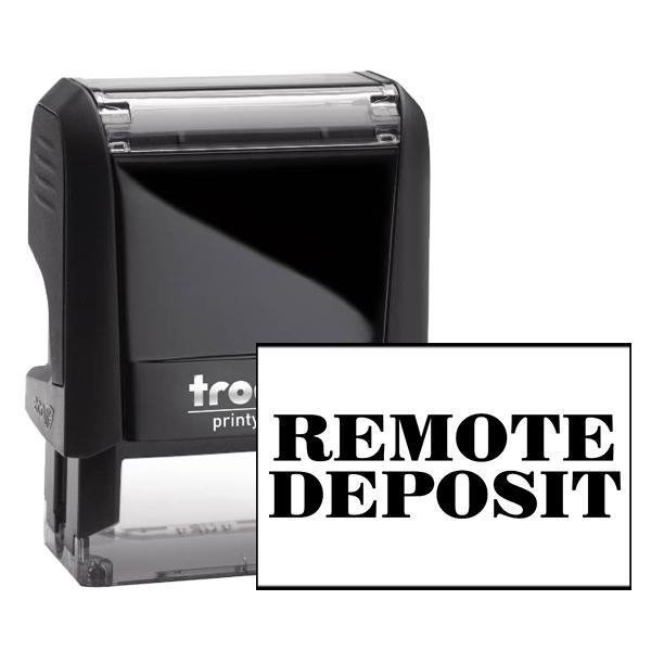 REMOTE DEPOSIT Mobile Check Deposit Rubber Stamp