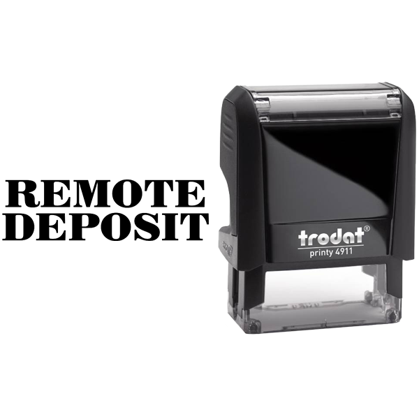 REMOTE DEPOSIT Mobile Check Deposit Rubber Stamp Body and Design