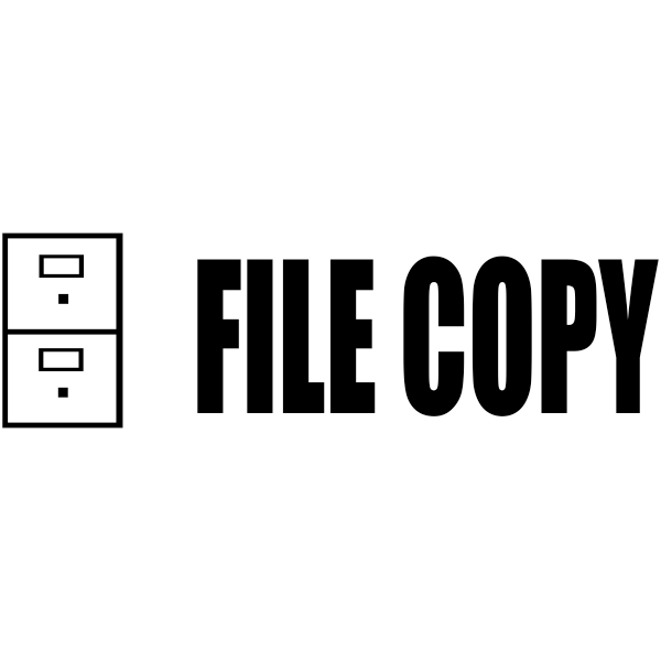 FILE COPY Cabinet Stock Stamp Imprint