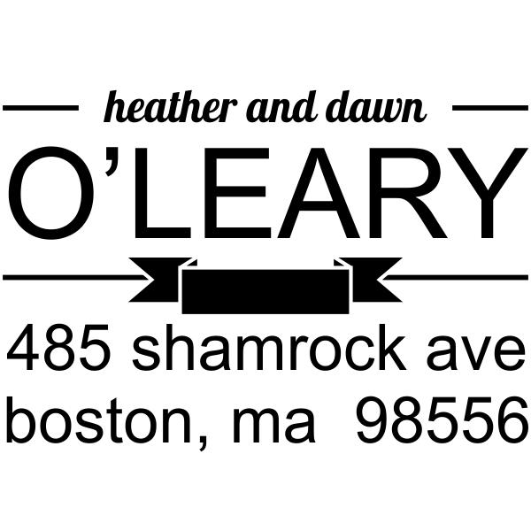 Banner Divide Return Address Stamp