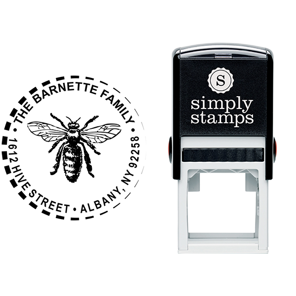 Sitting Hornet Return Address Stamp Body and Design