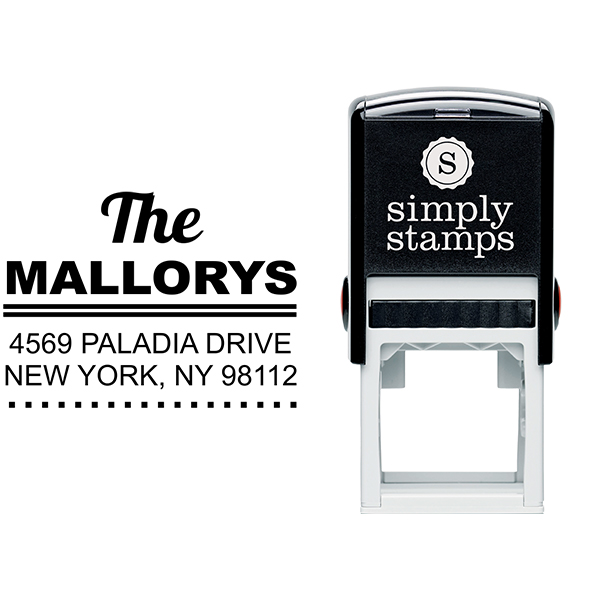 Metro Square Style 1 Address Stamp Body and Design