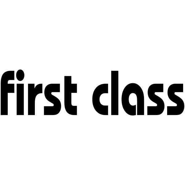 FIRST CLASS Lower Case Stock Stamp Imprint