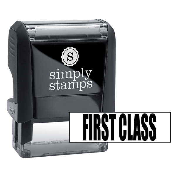 First Class Upper Case Stock Stamp