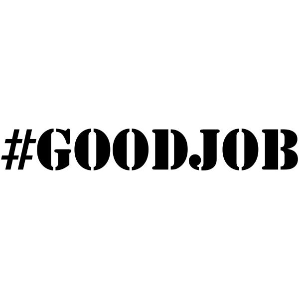 GOOD JOB Hashtag Rubber Stamp