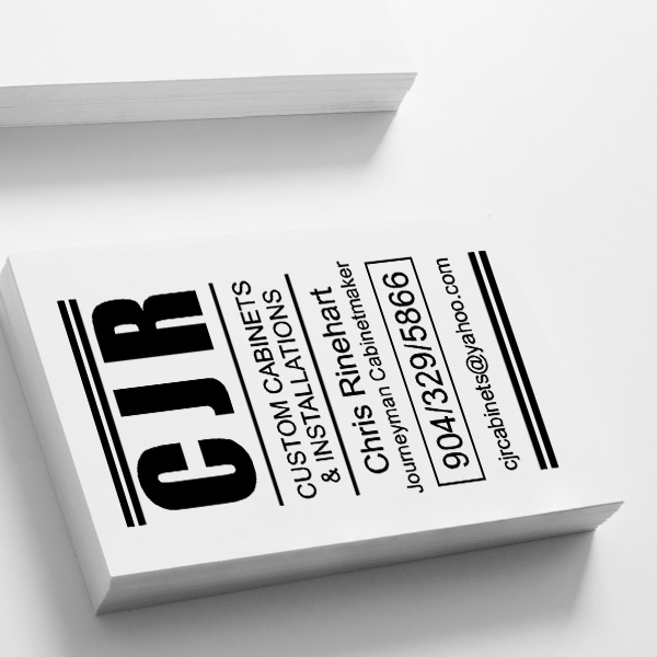 Bold Initials Business Card Stamp Imprint Example