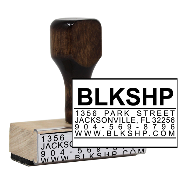 Bold Title Business Card Stamp