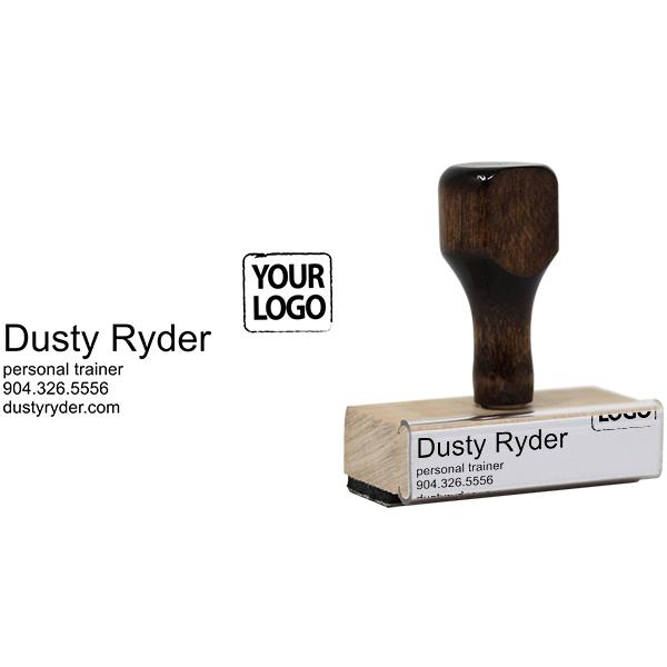 Custom Logo Business Card Stamp Body and Design