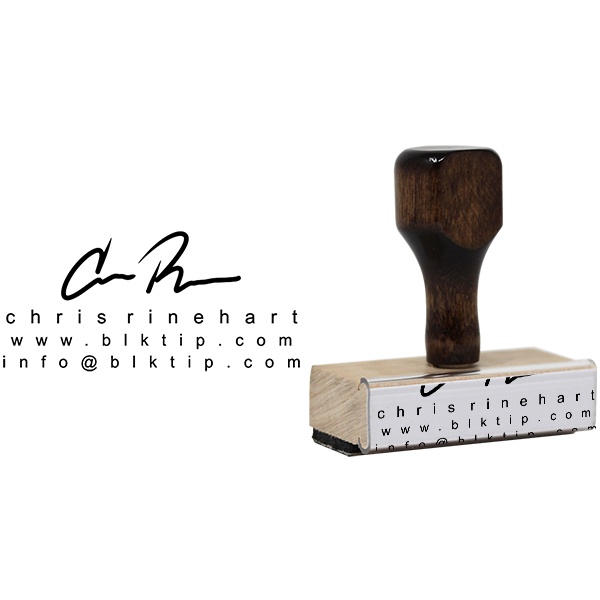 Custom Signature Business Card Stamp Body and Design