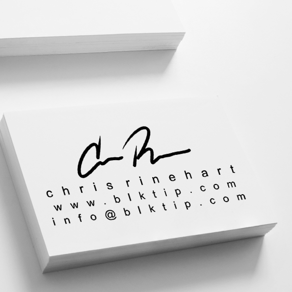 Custom Signature Business Card Stamp Imprint Example