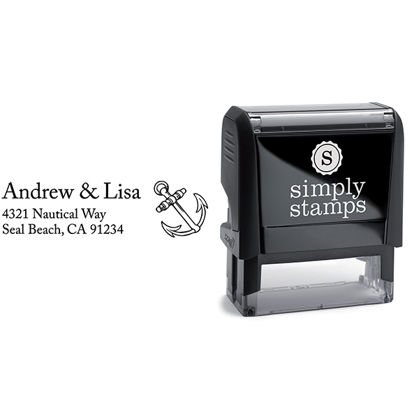 Ships Anchor Address Stamp Body and Design