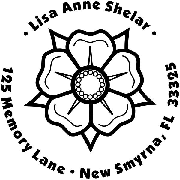Flower Petal Custom Address Stamp
