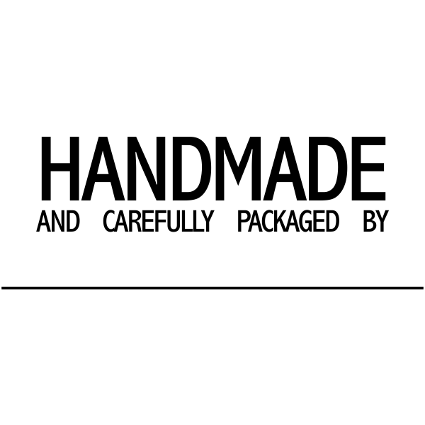 Handmade And Carefully Packaged Signature Line Packaging Stamp Imprint Example