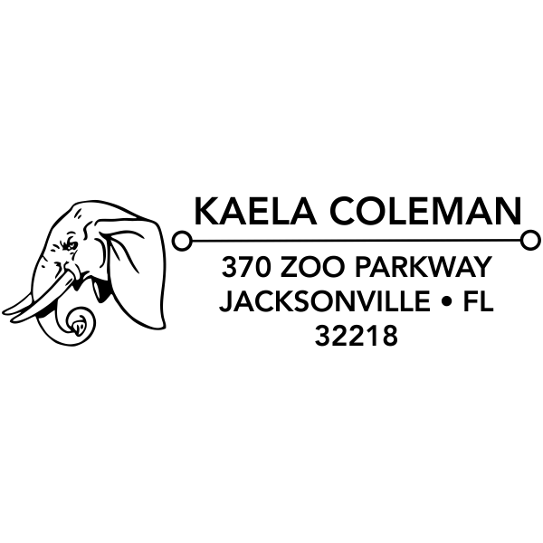 Elephant Head Address Stamp
