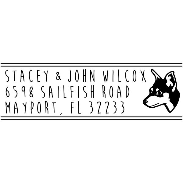 Manchester Terrier Custom Address Stamp