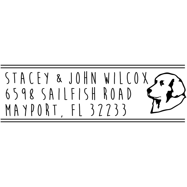 Kuvasz Dog Custom Return Address Stamper