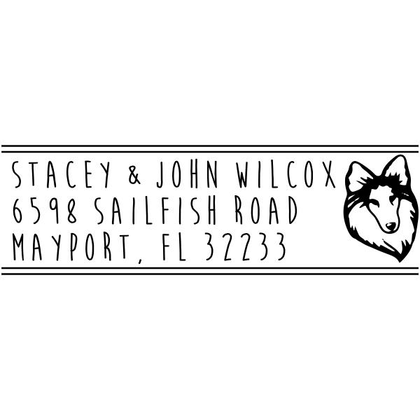 Sheep Dog Head Custom Address Stamp