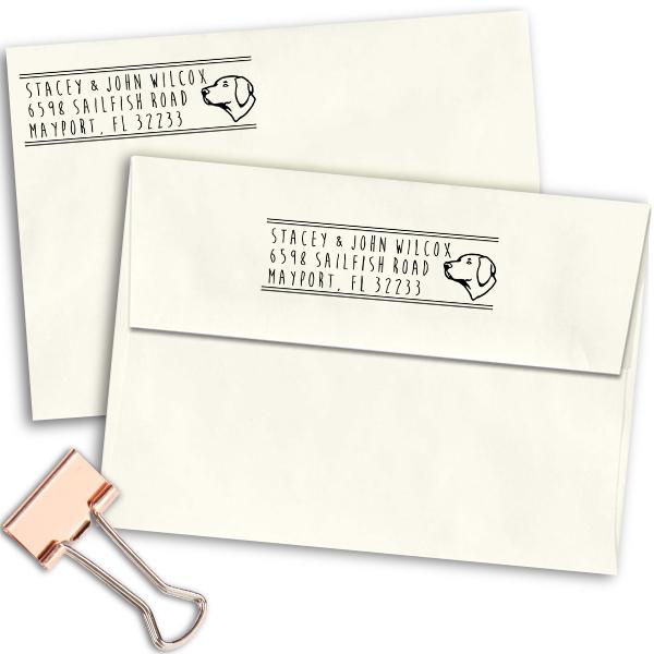 Lab Pointer Dog Address Stamp Imprint Example