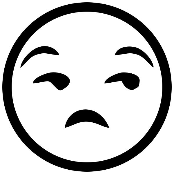 Annoyed Face Emoji Stamp