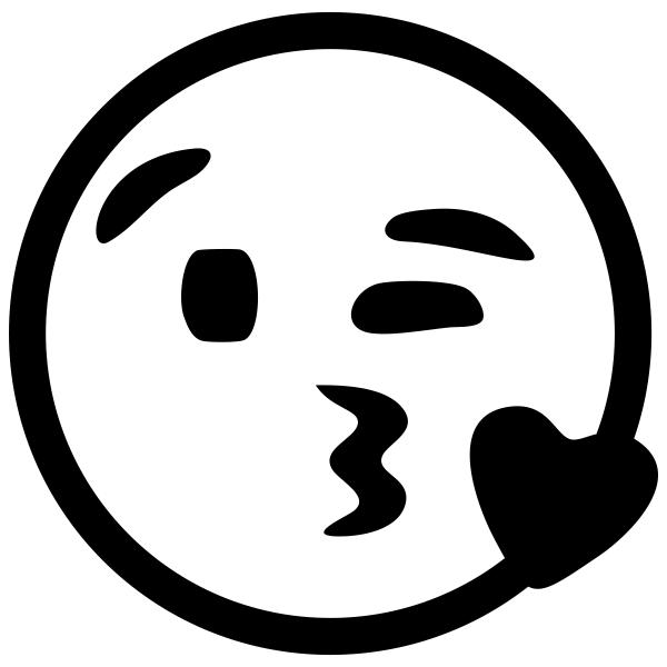 Heart Kiss Emoji Stamp