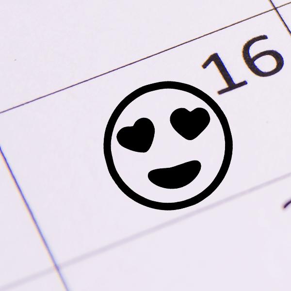 Heart Eyes Emoji Stamp Imprint Example