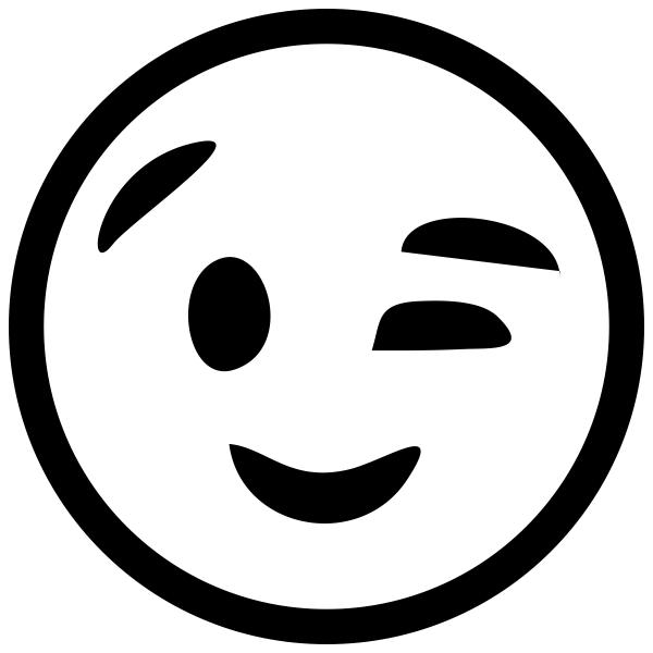 Wink Face Emoji Stamp
