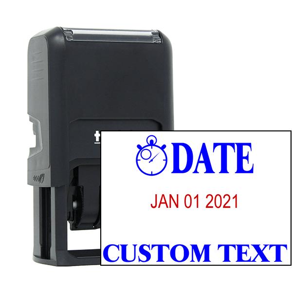 Clock Custom Bottom Line Text Dater Stamp