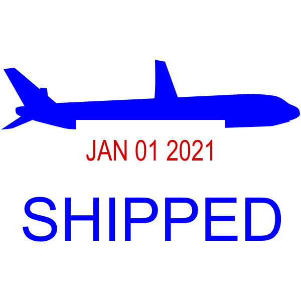 Shipped Plane Dater Stamp Date Stamp