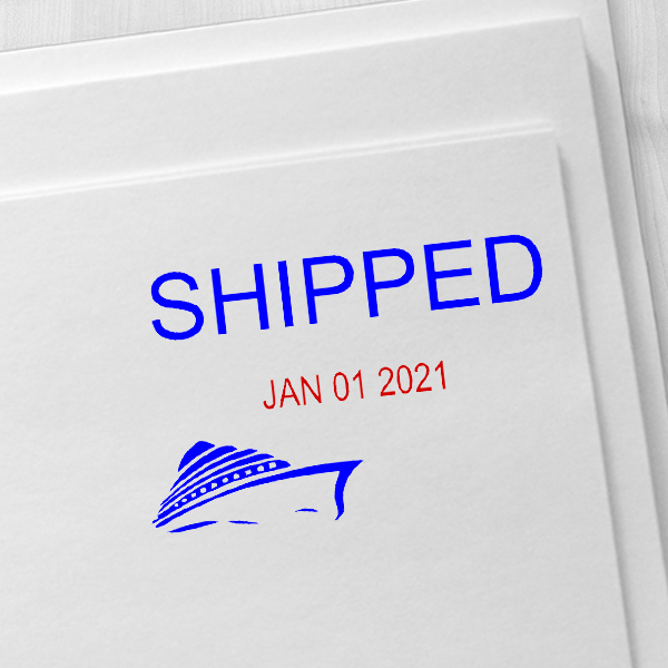 Shipped Ship Dater Stamp Imprint Example