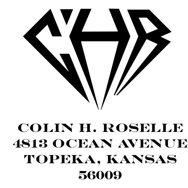 Diamond Custom Square Monogram Initial Address Stamp