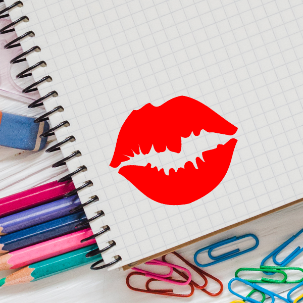 LIPS Stock Stamp Imprint Example on Graph Paper