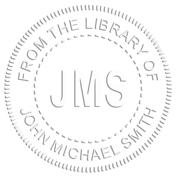 From the Library Initials Embosser Imprint Example