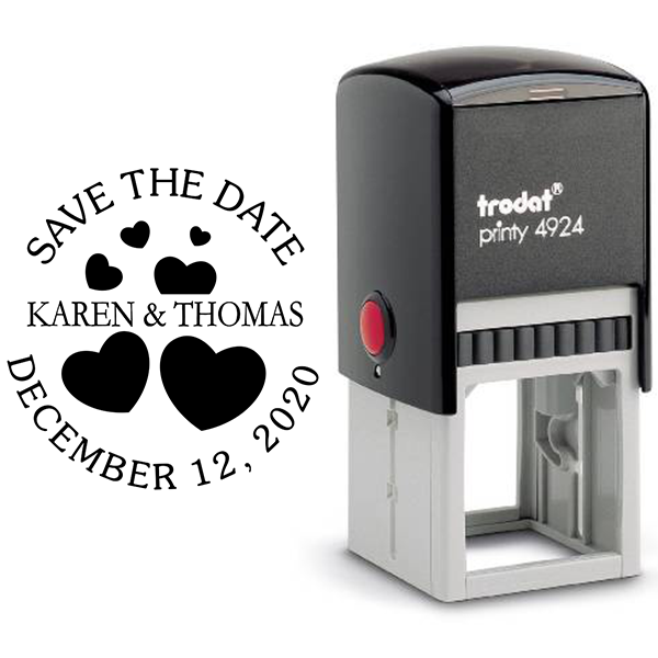 Save the Date with Hearts Stamp Body and Design
