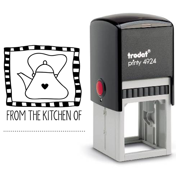 From the Kitchen Tea Kettle Stamp Body and Design