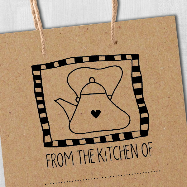 From the Kitchen Tea Kettle Stamp Imprint Example