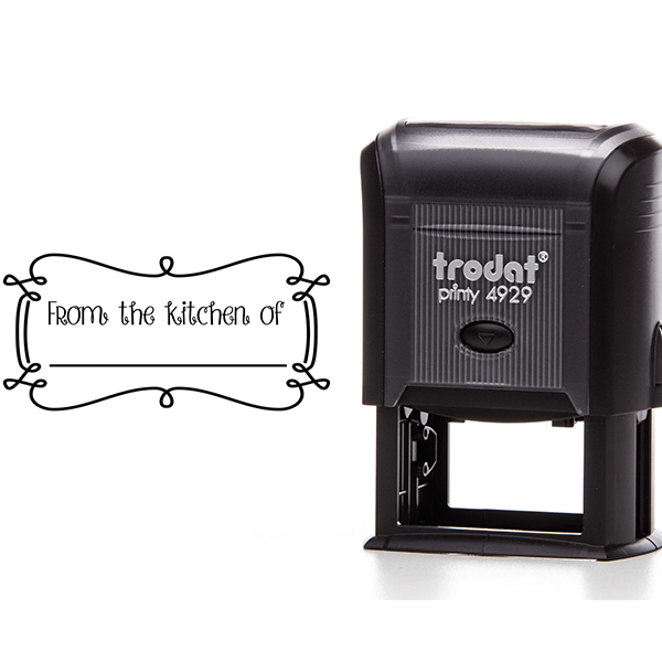 From the Kitchen Decorative Rectangle Stamp Body and Design