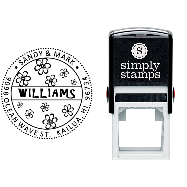 Hibiscus Flower Address Stamp Body and Design