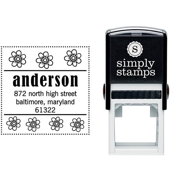 Anderson Flowers Address Stamp Body and Design