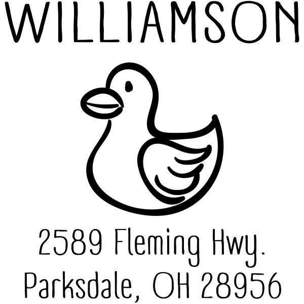 Rubber Ducky Address Stamp design