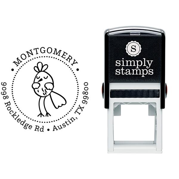 Dancing Bird Address Stamp Body and Design