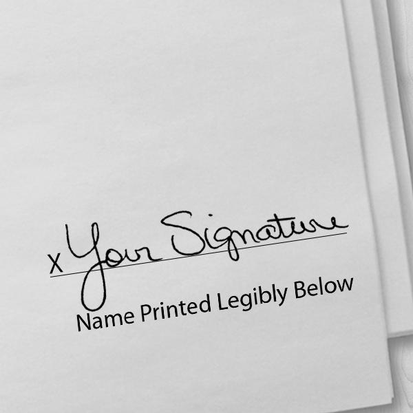 Nurses Signature Stamp - Self-Inking Imprint Example on Paper
