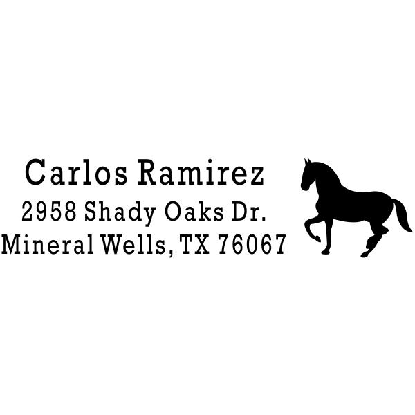 Prancing Horse Return Address Stamp