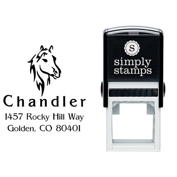 Chandler Horse Head Beauty Address Stamp Body and Design