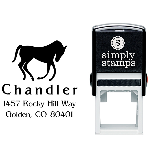 Bowing Horse Address Stamp Body and Design