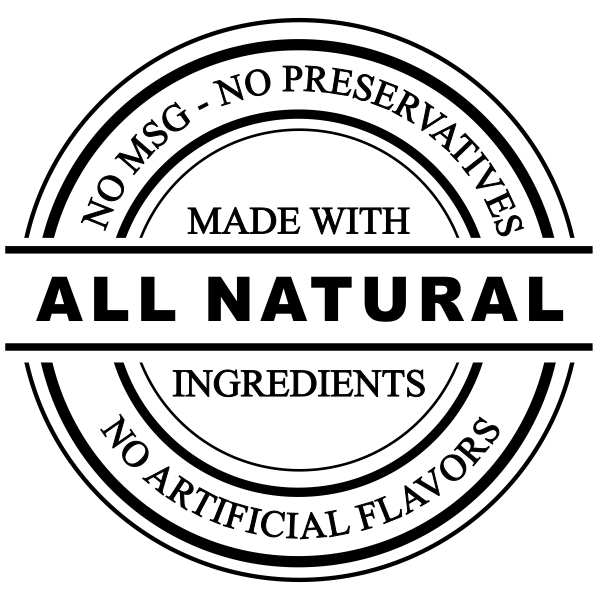 All Natural No Preservatives Rubber Stamp Imprint Example