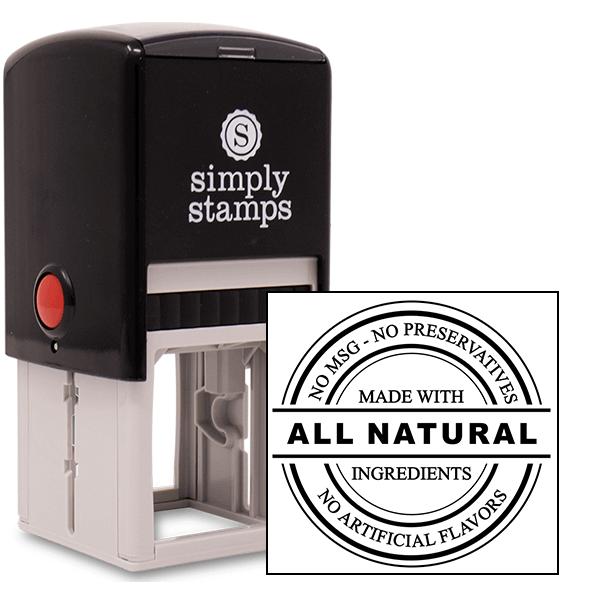All Natural No Preservatives Rubber Stamp