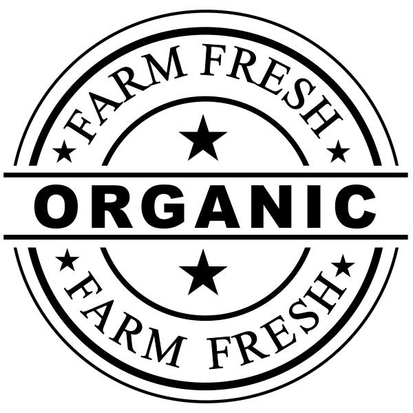 Farm Fresh Organic Rubber Stamp Imprint Example